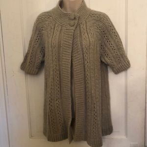 Chico's gray sweater cardigan M